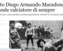 Maradona ucciso da una parata